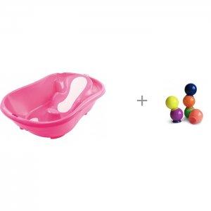 Ванночка Onda Evolution и Набор ПВХ-игрушек для ванной Happy Baby IQ-Bubbles Ok