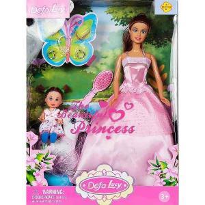 Игровой набор  Мама+дочка с пони и аксессуарами, в розовом платье Defa