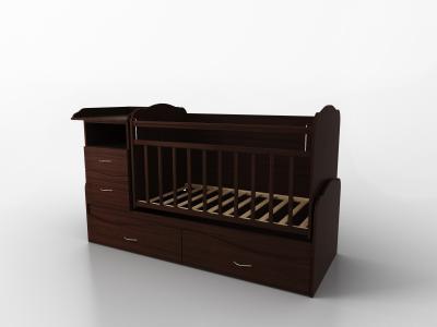 Кровать-трансформер  Allegra Comfort 2 части, цвет: шоколад Valle