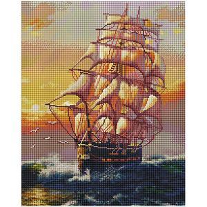 Алмазная мозаика  Под парусами, 40х50 см Белоснежка