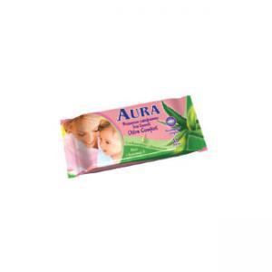 Салфетки  Ultra comfort влажные, 15 шт Aura