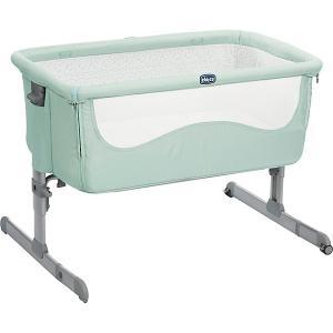 Кроватка-люлька Chicco Next 2 Me dusty green. Цвет: зеленый