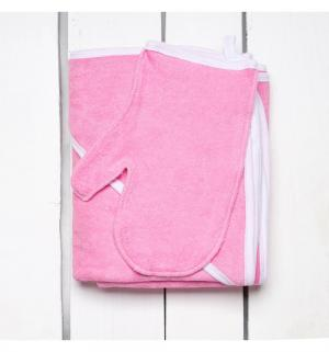 Комплект  полотенце/рукавица 90 х 110 см, цвет: розовый Утенок