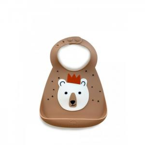 Нагрудник  Baby Bib Bear with crown Make my day