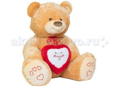 Мягкая игрушка  Мишка большой с сердцем 80 см Нижегородская