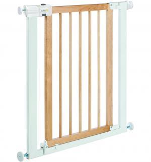 Ворота безопасности  Easy Close Wood & Metal, цвет: белый/натуральное дерево Safety 1st