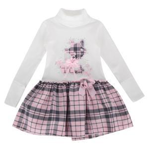 Платье , цвет: белый/розовый Fun Time