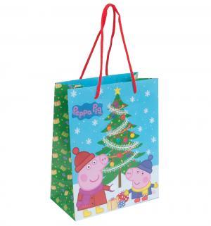 Подарочный пакет  Пеппа зимой, 35 x 25 9 см Peppa Pig