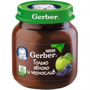 Пюре  яблоко-чернослив с 5 месяцев, 130 г Gerber