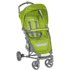 Прогулочная коляска  Ginger, цвет: салатовый/серый Brevi