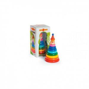 Деревянная игрушка  Пирамидка Клоун Папа Карло