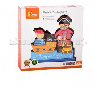 Деревянная игрушка  Магнитный 3D пазл Пират Viga