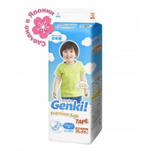 Подгузники Nepia Premium Soft XL (12-17 кг) 44 шт. Genki