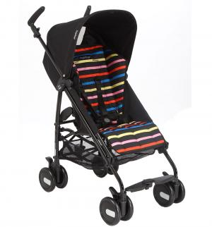 Коляска-трость  Pliko Mini, цвет: черный/цветная полоска Peg-Perego