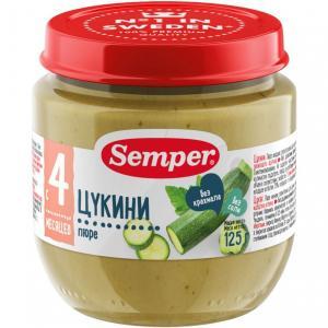 Пюре  цукини с 4 месяцев, 125 г Semper