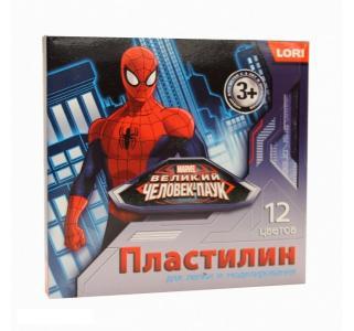 Пластилин  Человек-паук 12 цв. 20 г Marvel