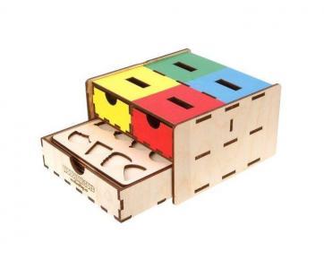 Деревянная игрушка  Комодик-плоский Геометрические фигуры Woodland
