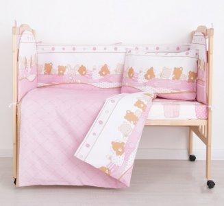 Комплект в кроватку  Спящие зверушки (6 предметов) Сонная сказка