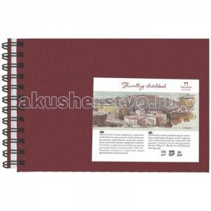 Блокнот для эскизов пружина сбоку Travelling sketchbook А5 80 листов Палаццо