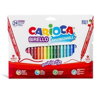Набор двухсторонних фломастеров  Birello, 24 цвета Carioca. Цвет: белый
