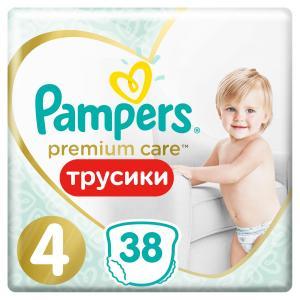 Трусики-подгузники  Premium Care Pants, р. 4, 9-15 кг, 38 шт Pampers
