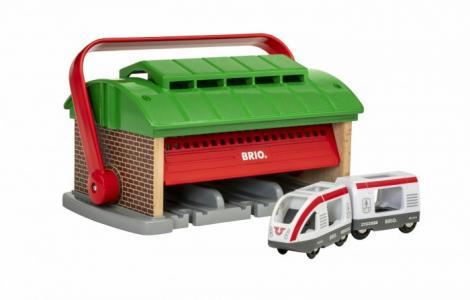 Депо-переноска для 3-х поездов с паровозом и вагоном Brio