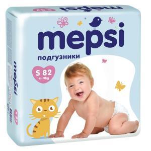 Подгузники  Premium р. S (4-9 кг) 82 шт. Mepsi