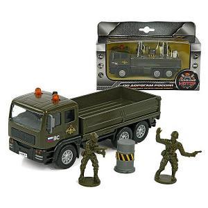 Инерционная машина  Армейский грузовик, свет/звук Пламенный мотор. Цвет: разноцветный