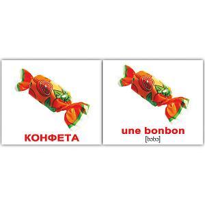 Набор обучающих мини-карточек  La nourriture/Еда, двухсторонний 20 штук Вундеркинд с пелёнок