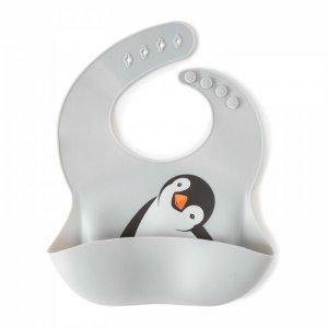 Нагрудник  силиконовый с кармашком Пингвиненок Baby Nice (ОТК)
