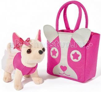 Мягкая игрушка  собачка Чихуахуа с сумкой 20 см Chi-Chi Love