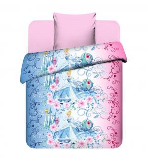 Комплект постельного белья  Прекрасная Золушка, цвет: голубой/розовый 3 предмета наволочка (70 х 70 см) Василек