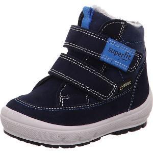 Утепленные ботинки Superfit. Цвет: синий