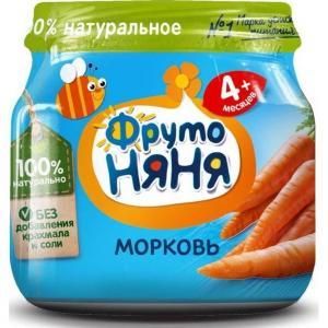 Пюре  морковь с 4 месяцев, 80 г ФрутоНяня