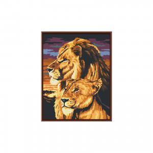 Роспись по номерам Львы на закате 40*50см Schreiber
