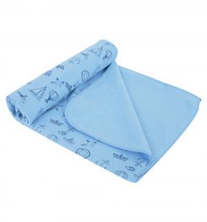 Пеленка Морская 80 х 120 см, цвет: синий Звездочка