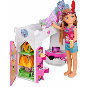Игровой набор  Волшебная спальня Нэнси Famosa. Цвет: розовый