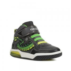 Кроссовки , цвет: черный/зеленый Geox