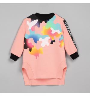 Платье-туника  Хип-хоп, цвет: розовый Ёмаё