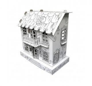 Игрушка-раскраска из картона  Кукольный домик Джульетты 32х32х16 см CartonHouse