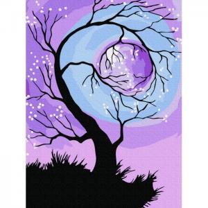 Картина по номерам Обнимая луну 20х15 см Molly