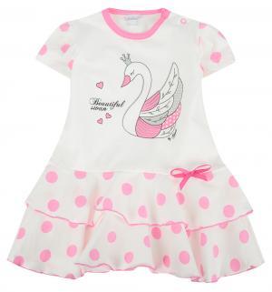 Платье , цвет: белый/розовый Gamex