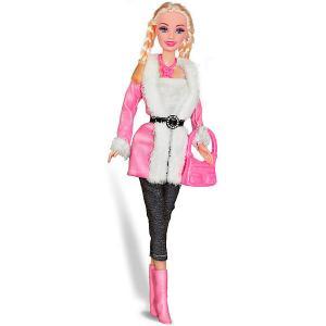 Кукла  Городской стиль Ася блондинка с косичками, 28 см Toys Lab. Цвет: розовый