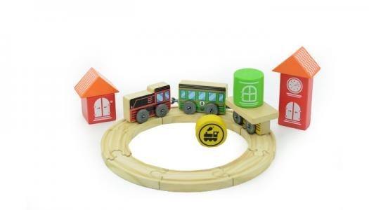 Деревянная игрушка  Трасса Локомотив Мир деревянных игрушек