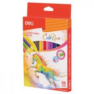 Карандаши цветные ColoRun 36 цветов Deli