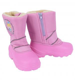Сноубутсы  Лисенок в шапке, цвет: розовый Дюна
