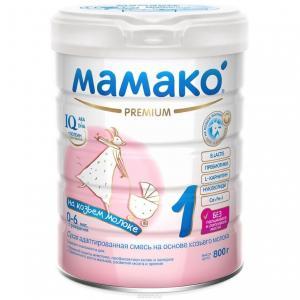 Молочная смесь  Premium на основе козьего молока 0-6 месяцев, 800 г Мамако