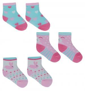 Носки , цвет: белый/розовый Yo!