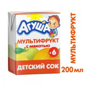 Сок  мультифрукт, 200 мл Агуша