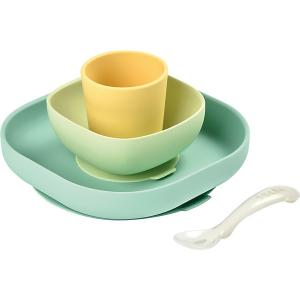 Набор посуды Beaba Silicone Meal Set, зеленый BÉABA. Цвет: желтый